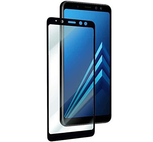 REY Pack 2X Pellicola salvaschermo 3D per Samsung Galaxy A8 2018 - A5 2018, Nero, Copertura Completa, Pellicola Protettiva Protezione Schermo, 3D / 4D / 5D