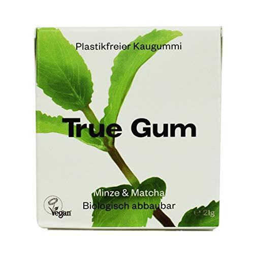 True Gum Pfefferminze & Matcha | Plastikfreier Kaugummi | Biologisch Abbaubar | Vegan | 21 g