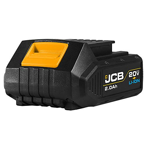 Jcb Tools - 20V Lithium-Ion Battery 2.0Ah With Charge Remaining Indicator - For Jcb 20V Power Tools - Drill, Jigsaw, Recip Saw, Circular Saw, Multi Tool, Miter Saw, Angle Grinder, LED Work Light