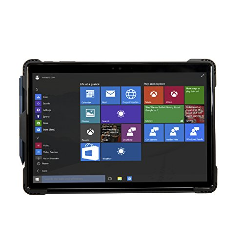 Targus SafePort Rugged Case for Microsoft New Surface Pro 6, Pro (2017) & Pro 4 , Black (THD137GLZ)