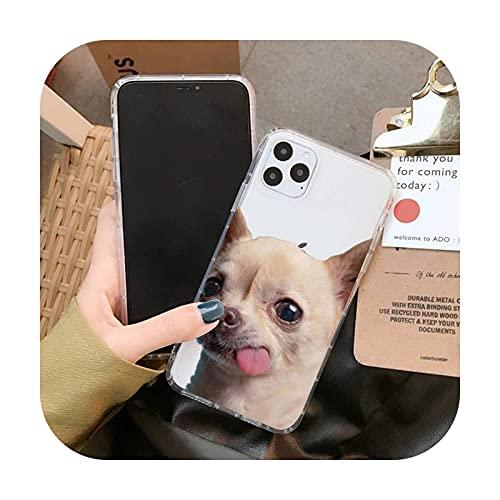 Wukuli Chihuahua - Funda para iPhone 11 12 Pro XS MAX 8 7 6 6S Plus X 5S SE 2020 XR Cover A7-For 11 Pro Max