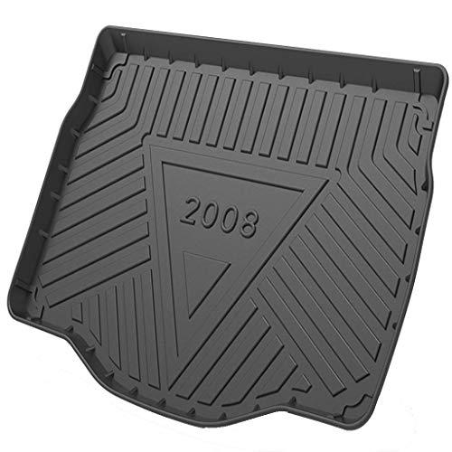 LXJ-LD Auto-Boot-Matte Alle Ladungsliner-Fracht-Cover-Kofferraum-Matte-Liner-Tablett-Boden-Mat-Liner Für Pe-UG-eo-t 308/2008/408/508L 2009 Bis 2021,2008 2020 2021
