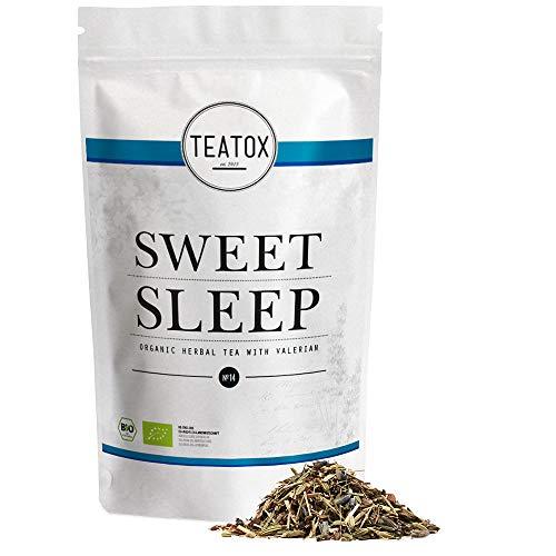 TEATOX Sweet Sleep, Bio Kräutertee mit Baldrian (looser Tee im Grobschnitt) (Ziplock)
