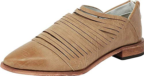 ARIDER Womens Oxford Classic Fashion Low Heel Carving Dress Shoes - Alana Taupe 9