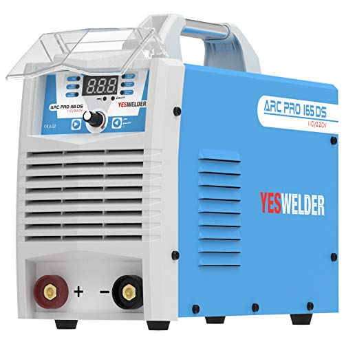 YESWELDER ARC Welder 165Amp Digital Inverter IGBT Stick MMA Welder,110/220V Dual Voltage Hot Start ARC Force Portable Welding Machine