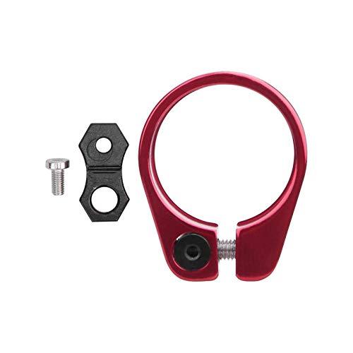 Aleación de aluminio ultraligero bicicleta asiento tubo bloqueo clip bicicleta rojo para 31.8mm