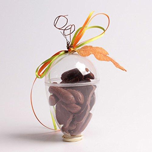 lot de 5 - Boîte à dragées fruit d'automne ovale - pour baptême mariage communion - ballotin à dragées design et moderne - transparent