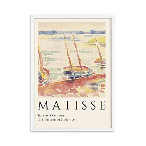 Carteles e impresiones de Henry Matisse, imágenes de paisajes abstractos, pinturas en lienzo, pinturas en lienzo sin marco, A2 30x40cm