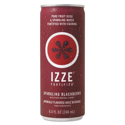 IZZE - Fortified Sparkling Juice, Blackberry, 8.4 oz Can, 24/Carton 15023 (DMi CT