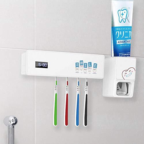 USB-oplader UV-licht Tandenborstelhouder Sterilisatorbox Ultraviolet Antibacteriële tandenborstelreiniger Tandpasta-dispenser