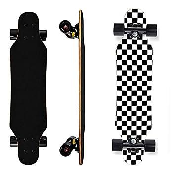 Skateboard - 31In Mini Longboard Carving Cruising Skateboards - for Adult Youth Kid Beginner