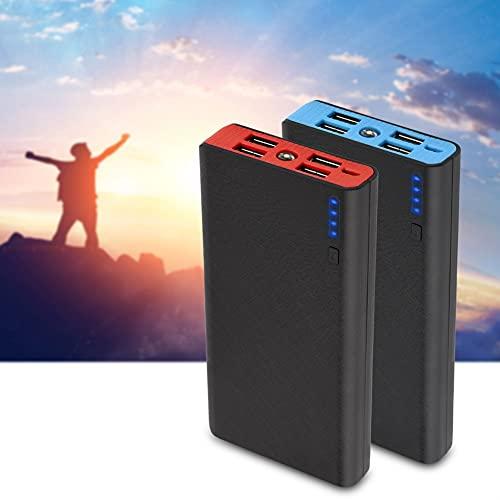 Cargador portátil de 20000 mah para teléfonos móviles de Carga rápida, 4 baterías USB de Salida 2.1a con 4 Mini Luces LED, reemplazo para iPhone X, Galaxy S9, Pixel 3 y etc.(Azul)