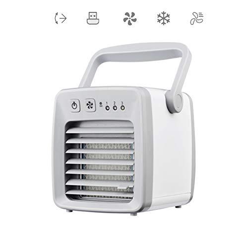 YOCASA Mini Portable USB Air Cooler Desk Fan Small Air Conditioner Cooling Fan 3 Speed 350ml Water Tank Air Circulator Humidifier Room Travel A 22 * 13cm/8.7 * 5.1inch