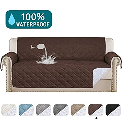 Turquoize Waterproof Sofa Slipcover Sofa Protector Cover for Living Room Non-Slip Couch Covers for Dogs Pet Quilted Furniture Covers Machine Washable Protects from Kids, Dogs, Cats