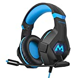 Mpow EG9 Gaming Headset,3D Stereo Surround Sound, Soft Imitation Protein Memory Earmuff, Gaming Headphones with Noise Cancelling Mic & Volume Control, RGB Light for PC/PS4/Xbox One/Nintendo Switch