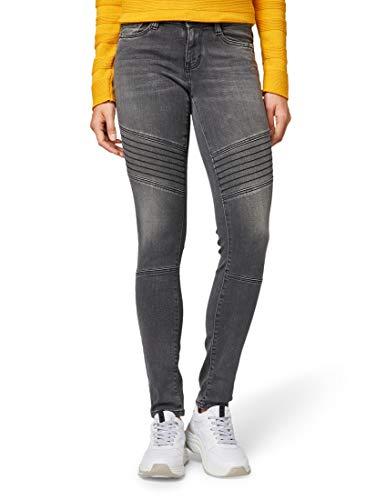 TOM TAILOR Damen Jeanshosen Carrie Skinny Jeans Grey Denim,29/30