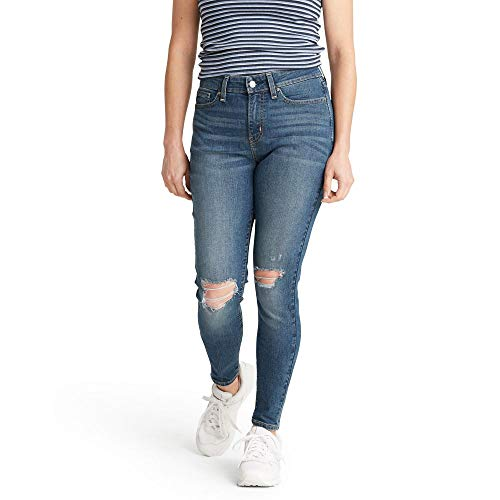 Signature by Levi Strauss & Co. Gold Label Women's Mid Rise Super Skinny Jeans, Dreamy, 4 Short