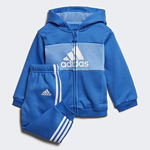 adidas I Log Fzhd J FL Chándal, Unisex bebé, Azul/azurea/Blanco, 74