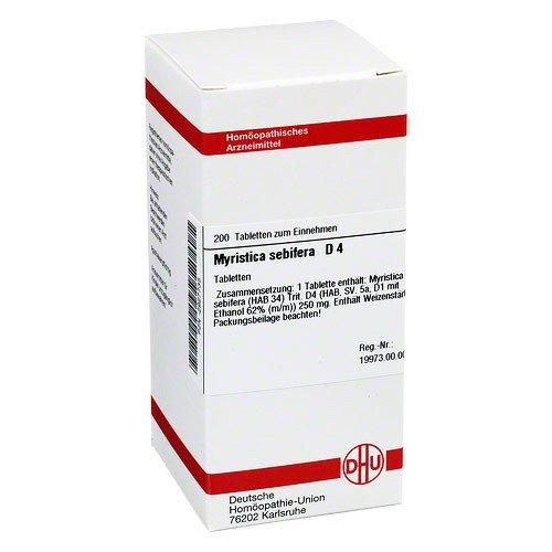 MYRISTICA SEBIFERA D 4 Tabletten 200 St Tabletten