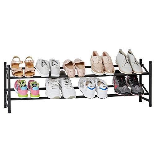 Store It 676485 Schuhregal, Metall, schwarz, 36x23x62-116 (HxTxB)