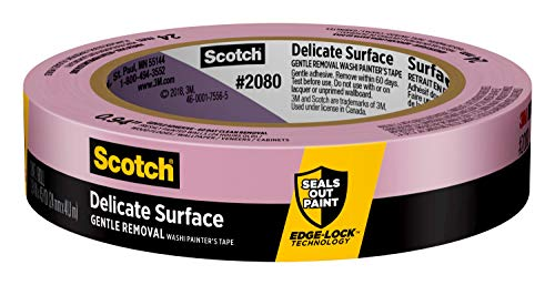 Scotch Painter's Tape Delicate Surface Painter's Tape, 2080, 0.94 in x 45 yd, 1 Roll, Purple (2080EL-24CXS)