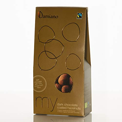 Nocciole al Cioccolato Fondente, Biologiche - Senza Glutine e Vegan Friendly - Astuccio da 100g