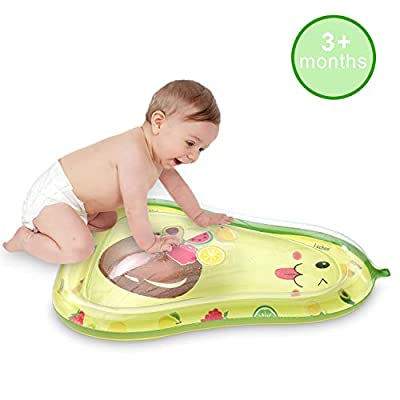 SHINFAN Inflatable Water Play Mat Tummy Time Infant Baby Water Mat Avocado Shape for 3 6 9 Months Baby