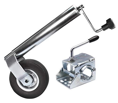 Schwerlast Stützrad stabile Ausführung Bugrad Ø 60 mm Stützlast 300 kg + Klemmeschelle