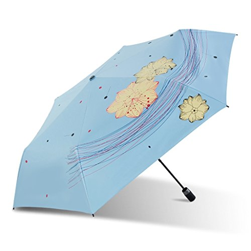 Zonnebrandcrème UV zonnige paraplu eenvoudige verse vouwparaplu