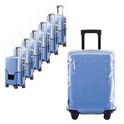 Uktunu Koffer-Abdeckungen 28 Zoll Transparent Gepäck Cover PVC-Material Reisekoffer-Schutzhülle Kofferschutzhülle Schutzhülle Wasserdicht Waschbar Kratzschutz