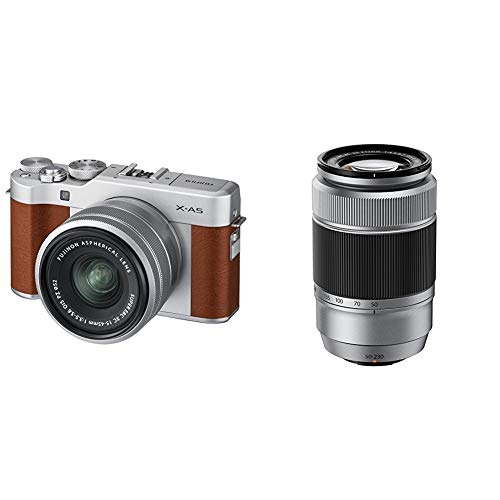 Fujifilm X-A5 Kit con ópticas Fujinon XC15-45mm + XC50-230mm, Color marrón