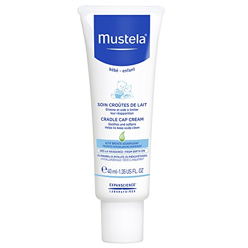 Mustela Baby Cradle Cap Cream, Fragrance-Free, with Natural Avocado Perseose
