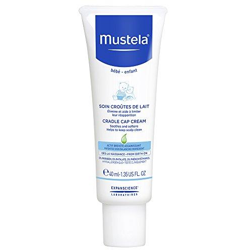 Mustela Cradle Cap Cream 40 ML I Milchschorfpflege Für Den Kopf I Ab Geburt