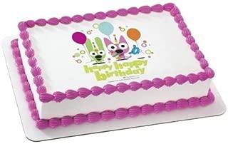 Hoops & Yoyo Happy Happy Birthday Personalized Edible Cake Image Topper