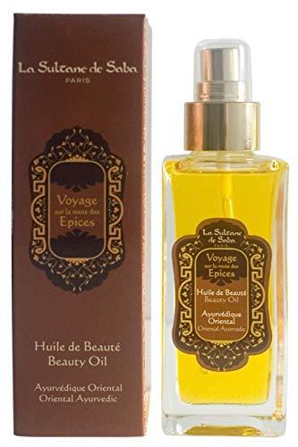 La Sultane de Saba - Olio de bellezza per il corpo ambra vaniglia patchouli, 100ml - Viaggiare sulla Strada delle spezie - Trattamento ayurvedico