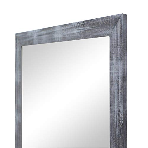 Espejo de Pared en Madera, Fabricado en España   Varios Tamaños y Colores   Ideal para Salón, Recibidor, Vestidor, Dormitorio y Baño. (171 Azul, 57x157 cm)