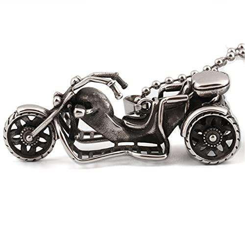 YNING Colgante de Motocicleta de Acero de Titanio/Collar Retro Punk/Regalos Adecuados para Niñas, Novias, Damas, Esposas, Niños, Novios, Hombres, Maridos