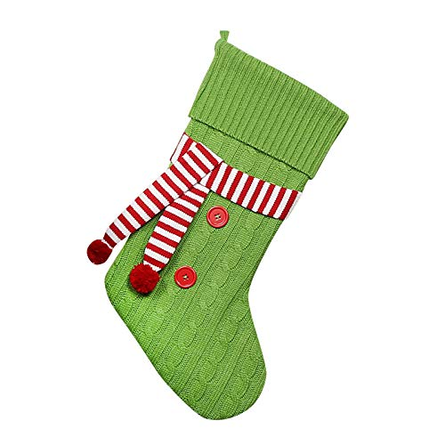 AMhomely Christmas Decorations Sale Christmas Knited Botton With Scarf Cute Stocking Decor Gift Bag Santa DecorXmas Decor Outdoor Baubles Gifts For Kids Adults UK