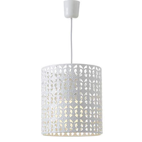 Dcasa - Lámpara de Techo árabe Blanca de Metal para
