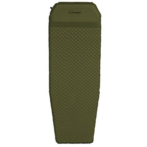Snugpak Elite Oversized Self Inflating Mat with Built In Pillow and Non-Slip Bottom, Olive