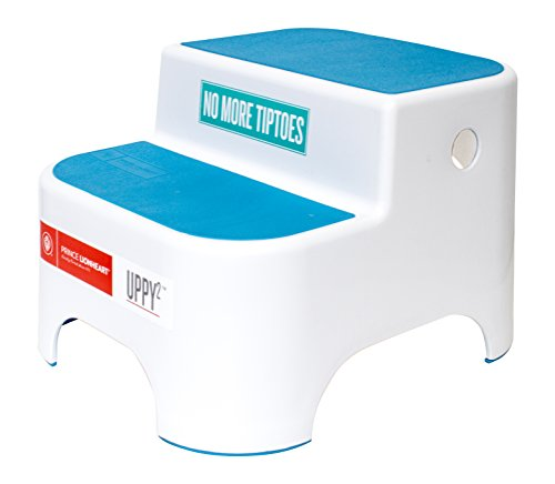 Prince Lionheart Dual Height UPPY2 Step Stool Blue Perfect for Potty Training and Kitchen Grippy NonSlip Top Sturdy Base with NonSlip Feet