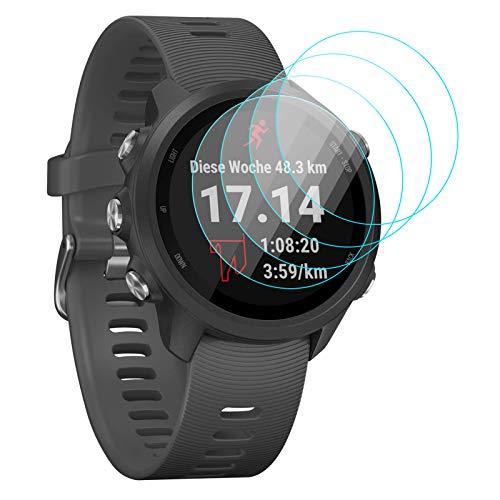 KIMILAR Pantalla Compatible con Garmin Forerunner 245/245 Music/Vivoactive 3 Protectores de Pantalla, [4 Pcs] Cristal Templado Protector Compatible con Garmin Forerunner 245/245 Music Smartwatch