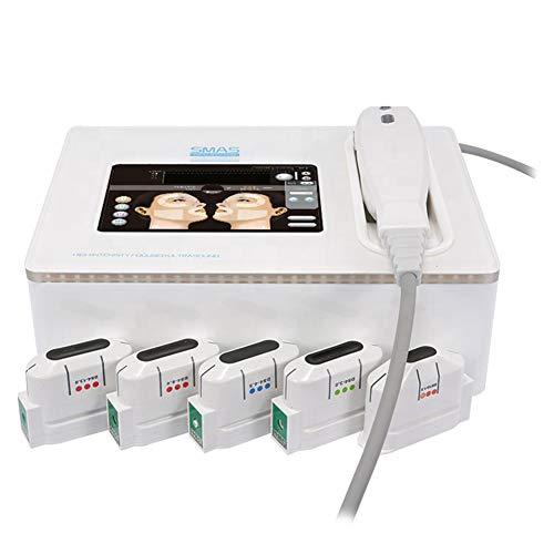 BEAUTTO Mini Gesichtskörper Hautverjüngungsgerät, HIFU Anti-Falten Face Lifting Anti-Aging-Hautstraffung Körpermassagegerät Schönheitspflege Heimgebrauch Maschine 5 Patronen