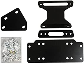 SuperATV Heavy Duty Winch Mounting Plate for Yamaha Viking/Viking VI (2014+)