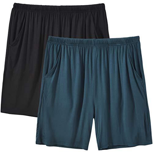 MoFiz Pantaloni Corti Pigiama Donna Modal Pantaloncini Morbidi Shorts con Tasche 2 Pack-01 S