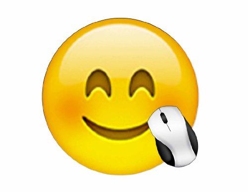 BRGiftShop Emoji Smile Round Mouse Pad