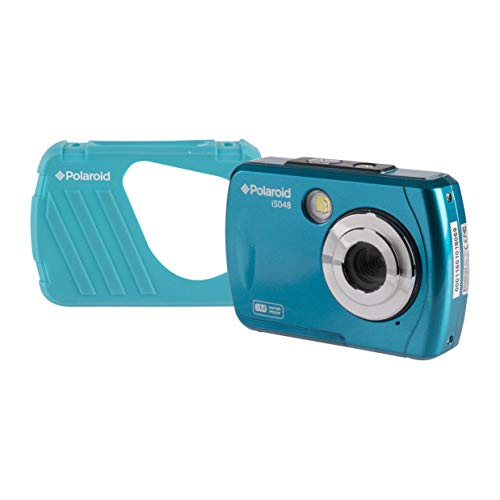 Polaroid IS048 Waterproof Instant Sharing 16 MP Digital Portable Handheld Action Camera, Teal