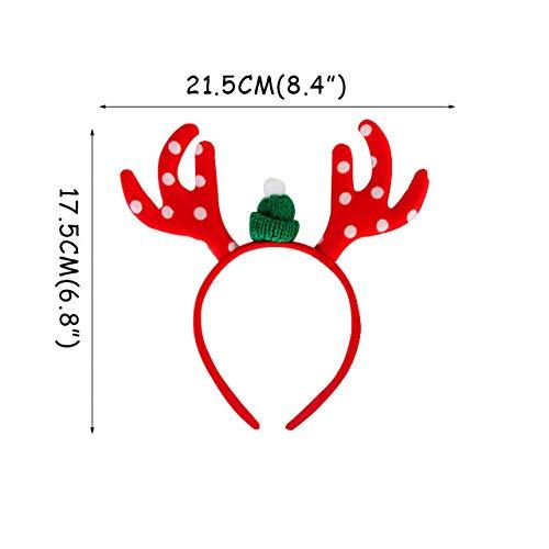 DYL&CDAI Vakantie decoratie Kerstmis Hoofdband Rendier Kerstmis Boom Hoofddeksels Haarband Decoraties Kinderen Kerstmis Kostuum Party Nieuwjaar gift