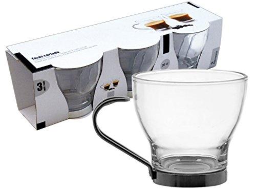 AVENUELAFAYETTE Set de 3 Tasses à café en Verre 20 cl