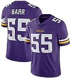 ZHMIAO Barr Vikińgs Men Rugby Camisetade 55#, Jerseys De Fútbol Americano Camiseta De Swing Transpirable Camiseta Deportiva De Hombre Fitness Casual De Secado Rápido Suda Purple- XL(85~95kg)
